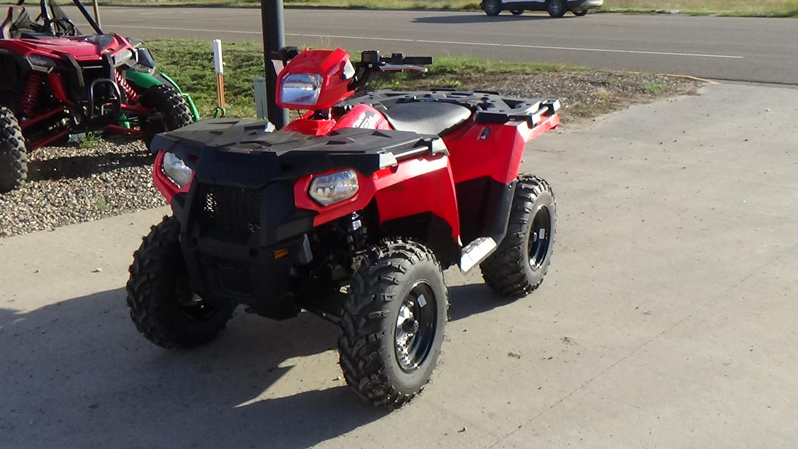 2019 polaris industries sportsman� 450 h.o. indy red