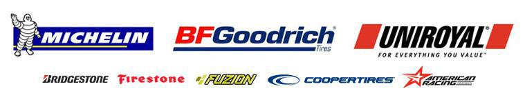 We carry products from Michelin®, BFGoodrich®, Uniroyal®, Bridgestone, Firestone, Fuzion, Cooper Tires, and American Racing.