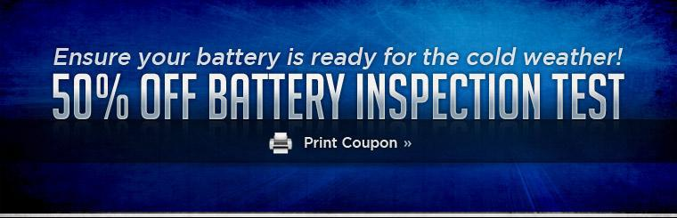 Ensure your battery is ready for the cold weather!