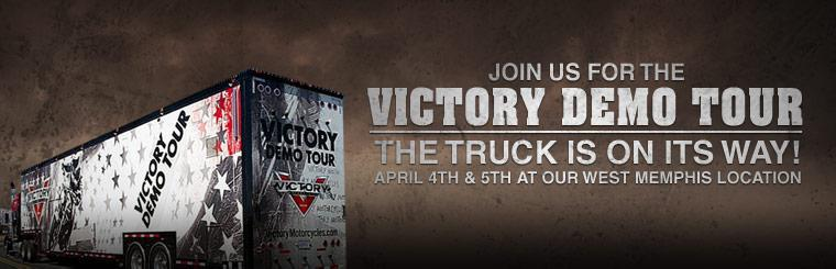 Join us for the Victory Demo Tour April 4th & 5th at our West Memphis location!