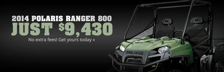 2014 Polaris Ranger 800 Sale: Get yours for just $9,430!