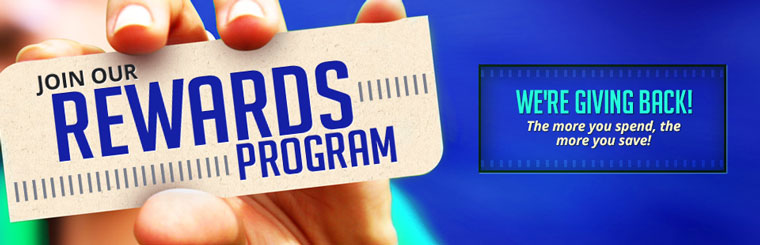 Join Our Rewards Program: The more you spend, the more you save! Contact us for details.