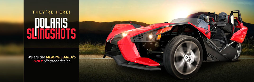 Polaris Slingshots are here! We are the Memphis area's only Slingshot dealer. Click here for details.