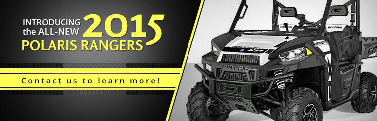 Introducing the All-New 2015 Polaris Rangers: Contact us to learn more!
