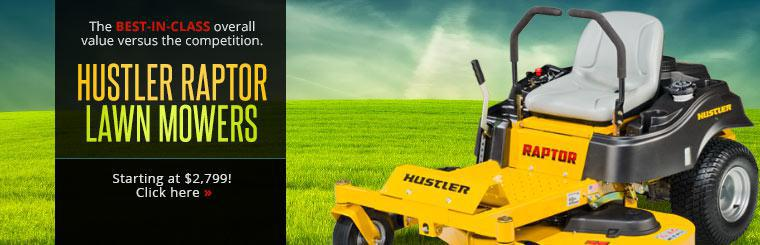 Hustler's Raptor lawn mowers deliver the best-in-class overall value versus the competition. Click here to shop.
