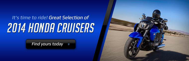 We have a great selection of 2014 Honda cruisers! Find yours today.