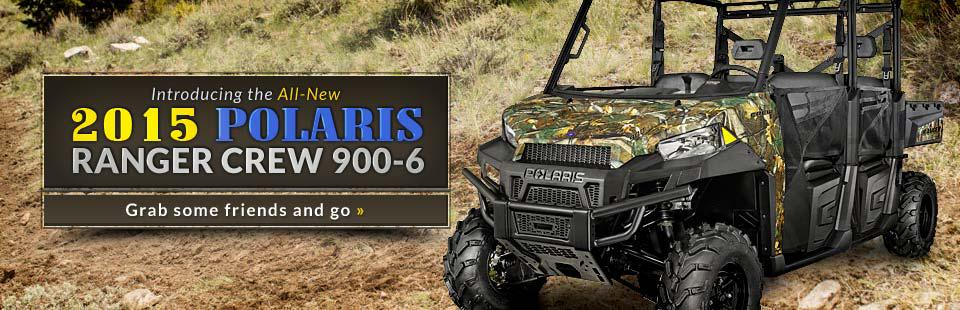 Now introducing the all-new 2015 Polaris Ranger Crew 900-6! Click here for details.
