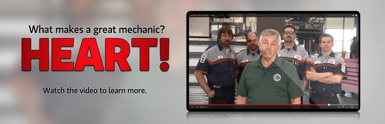 What makes a great mechanic? Heart! Click here to watch the video to learn more.