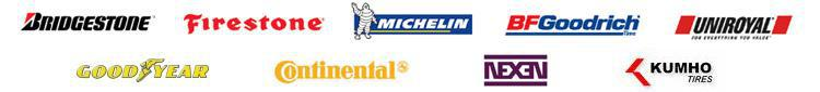 We carry products from Michelin®, BFGoodrich®, Uniroyal®, Goodyear, Continental, Bridgestone, Firestone, Nexen, and Kumho.