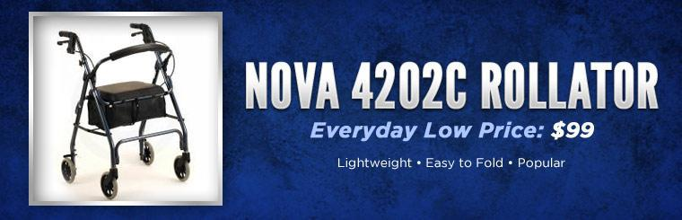 Get the Nova 4202C rollator for just $99!