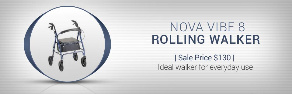 The Nova Vibe 8 Rolling Walker is now on sale for $130! Click here for details.