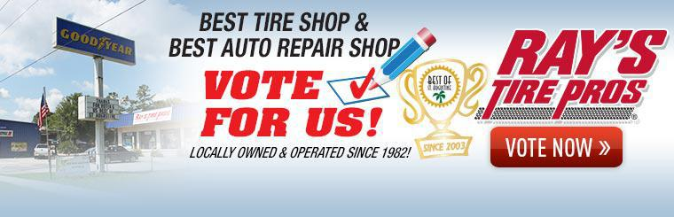 Vote For Ray's Tire Pros as Best Tire Shop and Best Auto Repair Shop