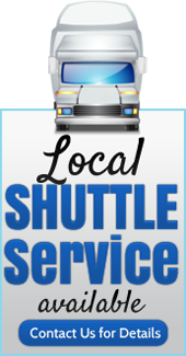 Local shuttle service available. Contact us for details.