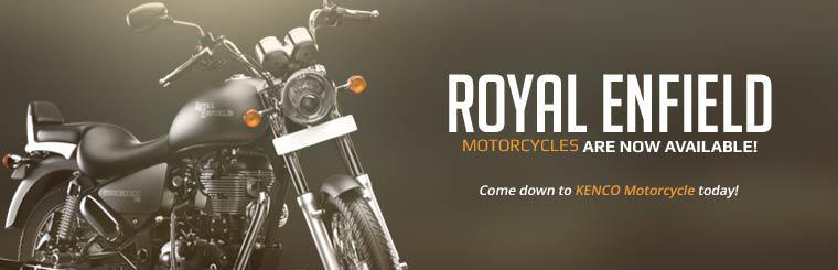 Royal Enfield motorcycles are now available! Contact us for details.