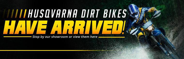 Husqvarna dirt bikes have arrived! Stop by our showroom or view them here.