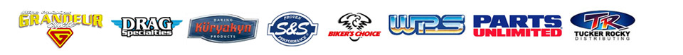 We carry products from Grandeur Cycle, Drag Specialties, Kuryakyn, S&S, Biker's Choice, Western Power Sports, Parts Unlimited, and Tucker Rocky.