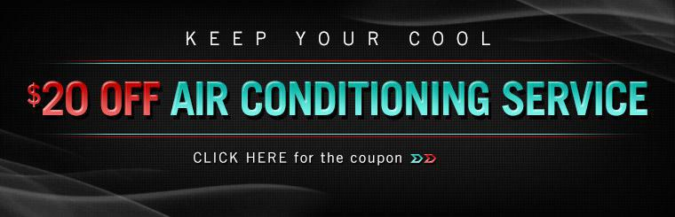 Get $20 off air conditioning service! Click here for the coupon.