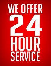 We Offer 24 Hour Service