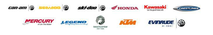We carry Can-am, Sea-Doo, Ski-Doo, Honda, Kawasaki, Crestliner, Mercury, Legend, Beachcomber, KTM, and Evinrude products!