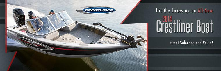 Hit the lakes on an all-new 2014 Crestliner boat! Click here to view the models.