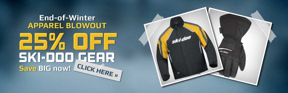 End-of-Winter Apparel Blowout: Get 25% off Ski-Doo gear!