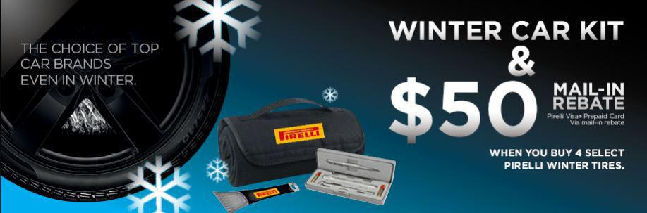 Pirelli Winter Kit & $50 rebate