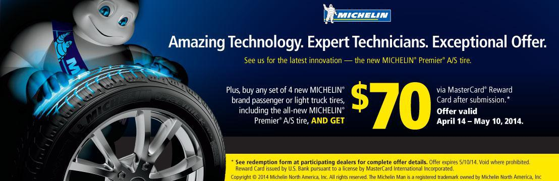 Michelin $70 spring rebate
