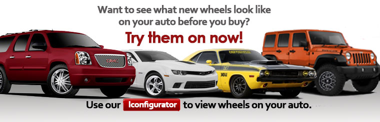 View wheels on your vehicle before you buy with our Iconfigurator.