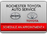 Click here to schedule an appointment at Rochester Toyota Auto Service.