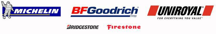 We carry great products from Michelin®, BFGoodrich®, Uniroyal®, Bridgestone, and Firestone.