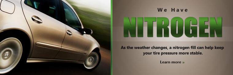 As the weather changes, a nitrogen fill can help keep your tire pressure more stable. Click here to learn more.