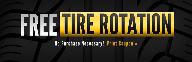 Get a free tire rotation! Click here to print the coupon.
