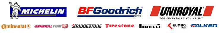 We carry products from Michelin®, BFGoodrich®, Uniroyal®, Continental, General, Bridgestone, Firestone, Pirelli, Kumho, and Falken.