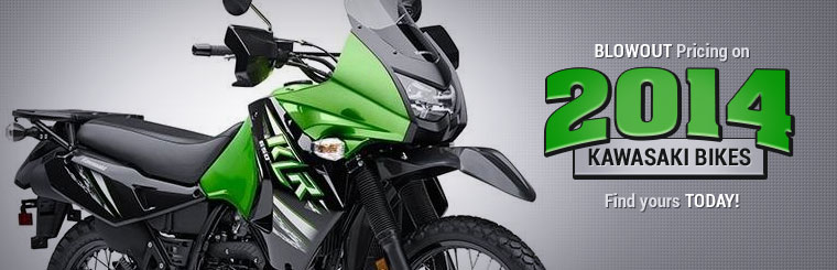 Get blowout pricing on 2014 Kawasaki bikes! Click here to find yours.