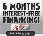 6 months interest-free financing!