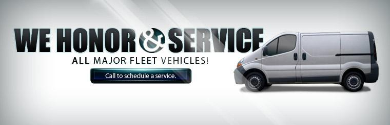 We honor and service all major fleet vehicles! Call to schedule a service.