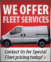 We offer fleet services!