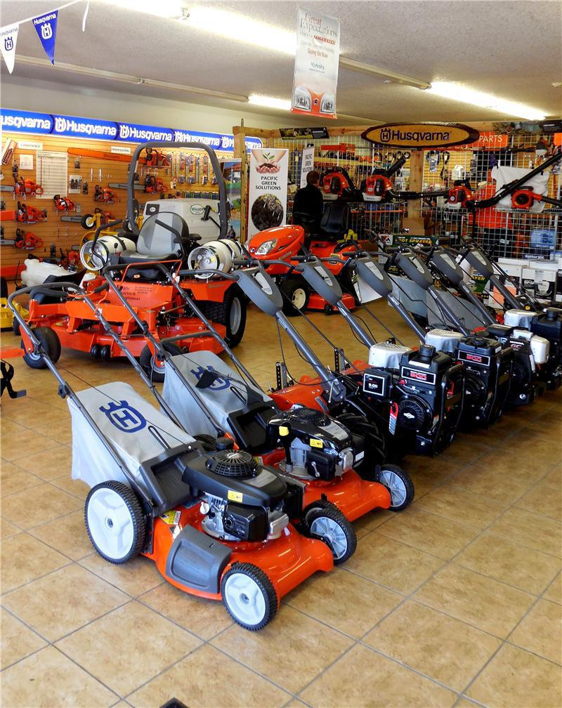 Showroom push mowers.JPG