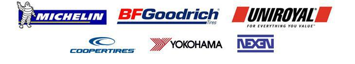 We carry products from Michelin®, BFGoodrich®, Uniroyal®, Cooper, Yokohama, and  Nexen.