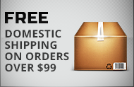 Free Domestic Shipping on Orders Over $99