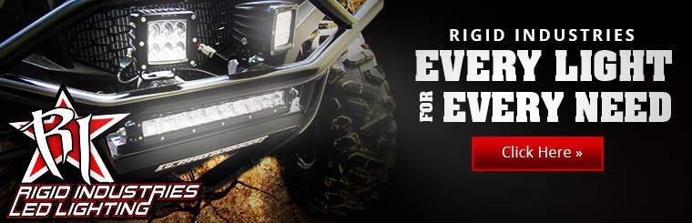 Click here to browse Rigid Industries LED lighting.