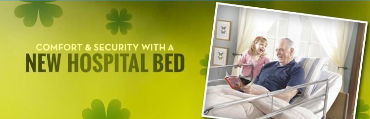 Get comfort and security with a new hospital bed.