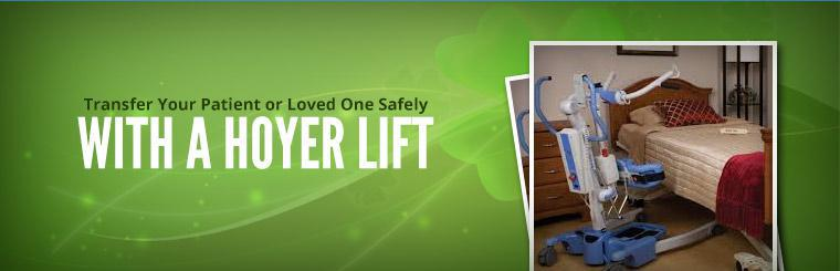 Transfer your patient or loved one safely with a Hoyer lift.
