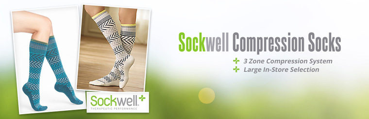 Sockwell Compression Socks: We have a large in-store selection! Contact us for details.