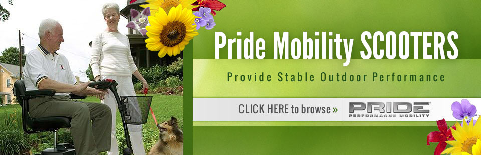 Pride Mobility Scooters: Click here to browse our selection.