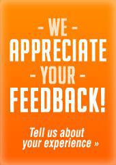 We appreciate your feedback! Tell us about your experience.