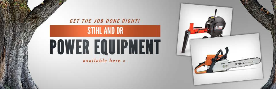 Get the job done right with STIHL and DR Power Equipment products, now available here!