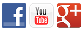 Facebook, Youtube, and Google+