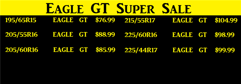 Eagle GT Super Sale