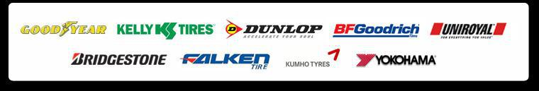 We are proud to feature products from Goodyear, Kelly, Dunlop, BFGoodrich®, Uniroyal®, Bridgestone, Falken, Kumho and Yokohama!